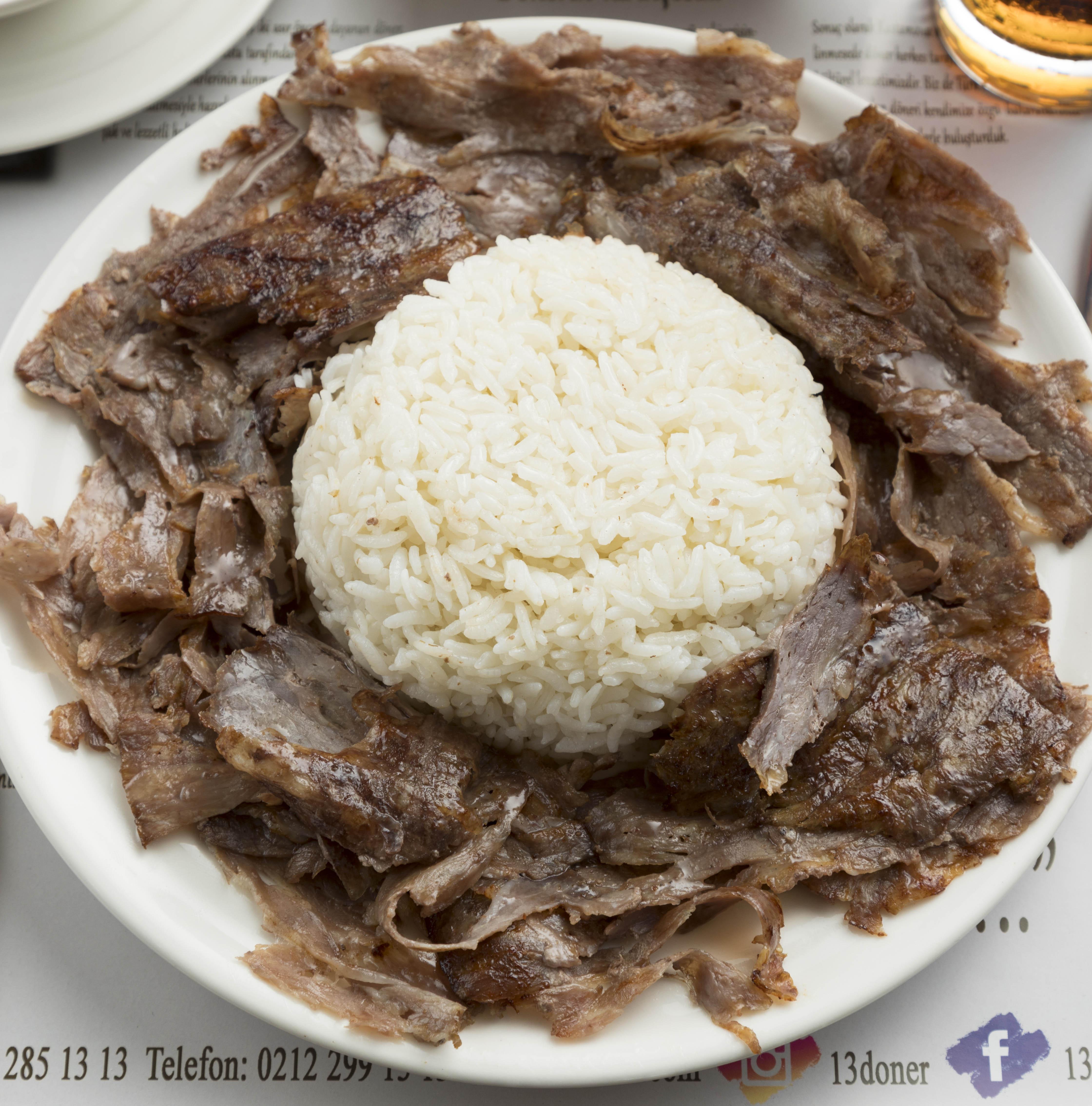 Pilav Üstü Döner / Doner Kebab with Rice